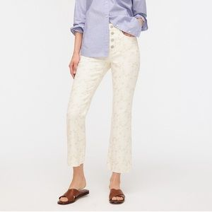 NWT J. Crew Embroidered High Rise Jeans